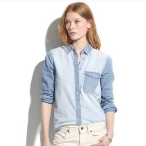 Madewell Two Tone Cotton Shirt